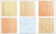 Цветни таванни плоскости от XPS с дървен фладер